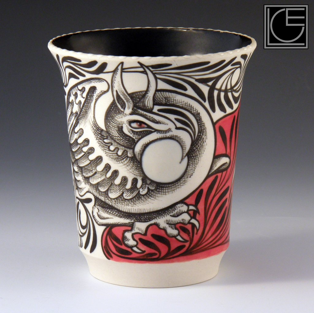 Griffin Vase by Laura Cooper Elm